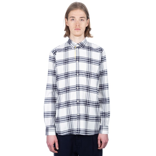 Wood Wood Piero Shirt (Navy/Off-White Check)
