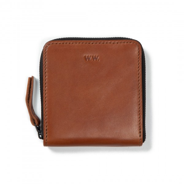 Wood Wood Square Wallet (Brown Leather)