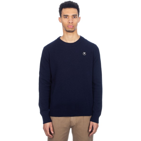 Wood Wood Yale Sweater (Dark Navy)