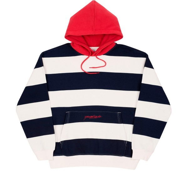 Yardsale Airway Pullover Hooded Sweatshirt (Navy/White/Red)