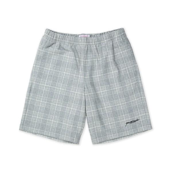 Yardsale Flannel Shorts (Grey/White)