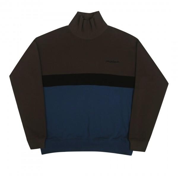 Yardsale Menace Rollneck Sweater (Black/Indigo)