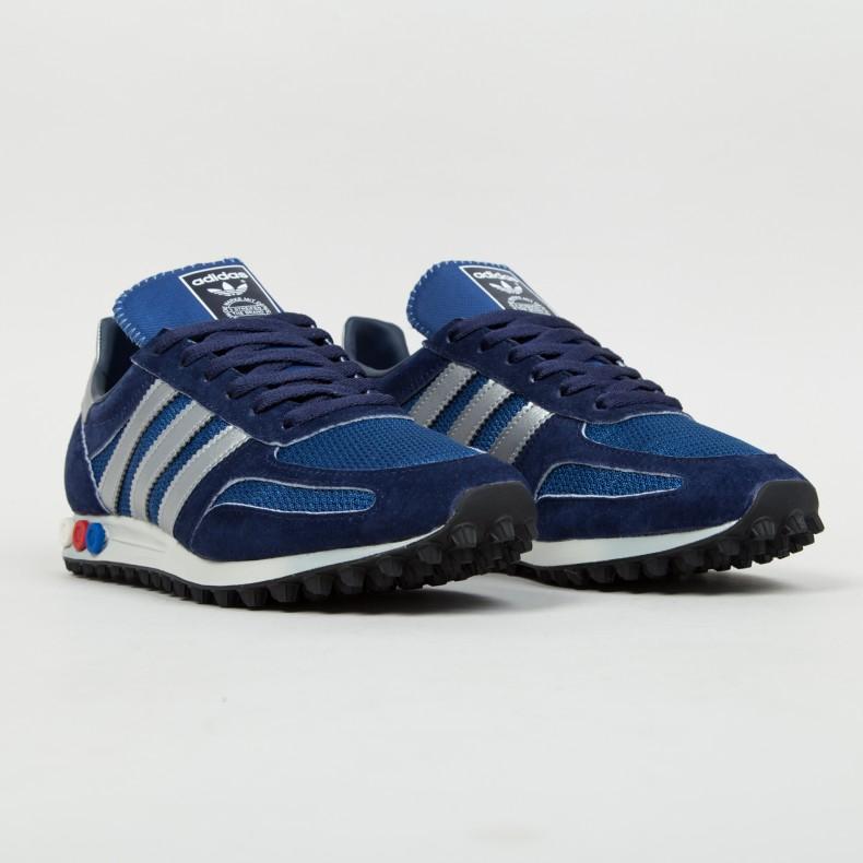 Adidas La Trainer Blue Denim chriscorneyproductions.co.uk