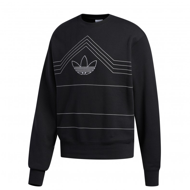pub assassino complessità  adidas Originals Rivalry Crew Neck Sweatshirt (Black/White) - ED5659 -  Consortium