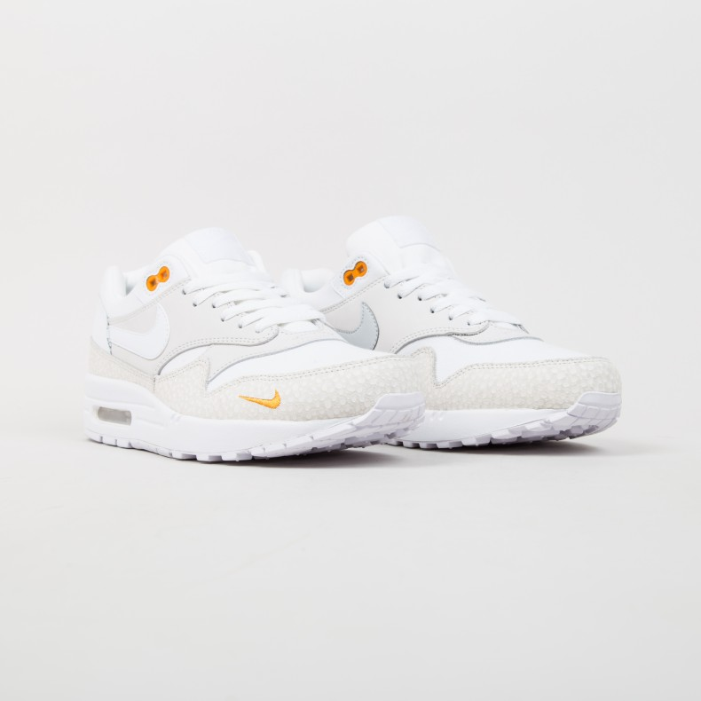 Air Max 1 White Safari Kumquat