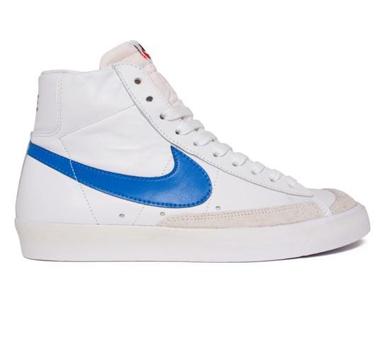 nike blazer white and blue