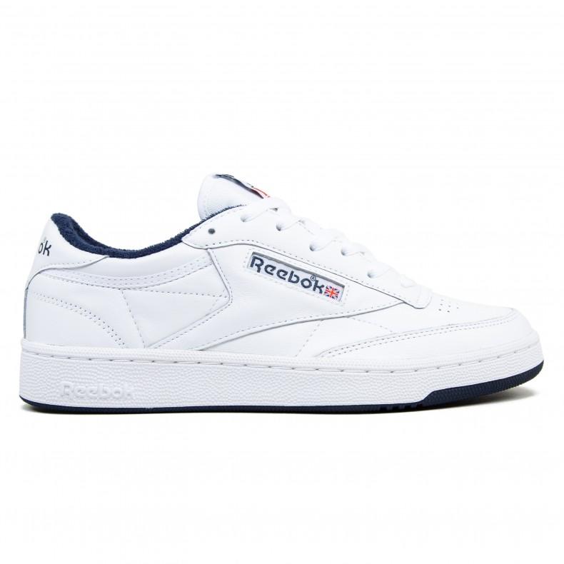 reebok club c white navy